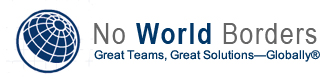 No World Borders Logo - No World Borders specializes both management consulting with C-level executives, and in sourcing, placing, and at the client's option, managing teams of hard-to-find professionals with specific regulatory, technical, or security skills that are holding you back form achieving your goals.