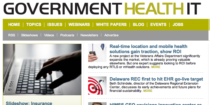 Real-Time and Mobile Health Gain Traction - Government Health IT