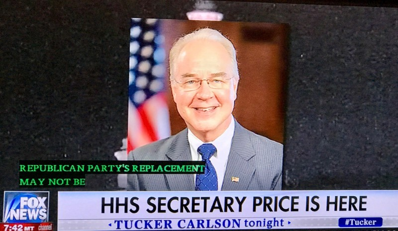 Tom Price, Secretary of HHS